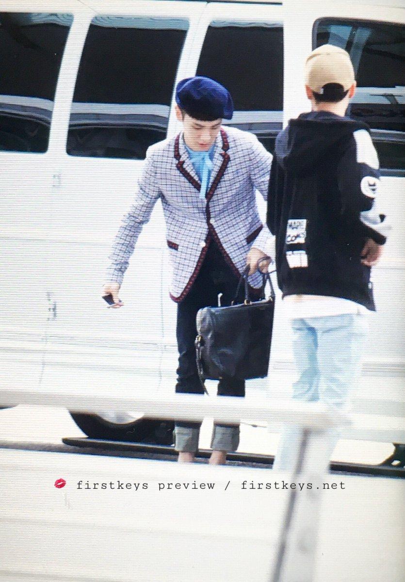 [IMG/160715] Jonghyun, Key @ Aeropuerto Incheon hacia Japón. 5NpUQUSF