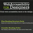 Accesibilidad Web para Diseñadores [Infografía]