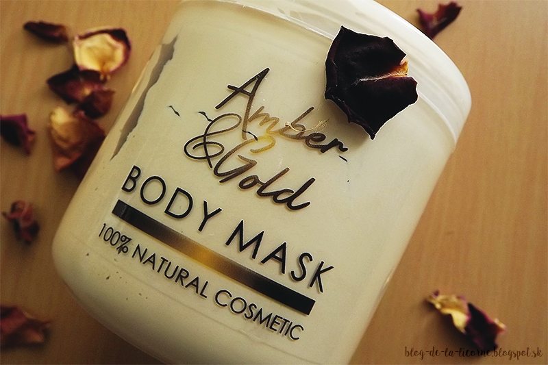 Amber and Gold body mask