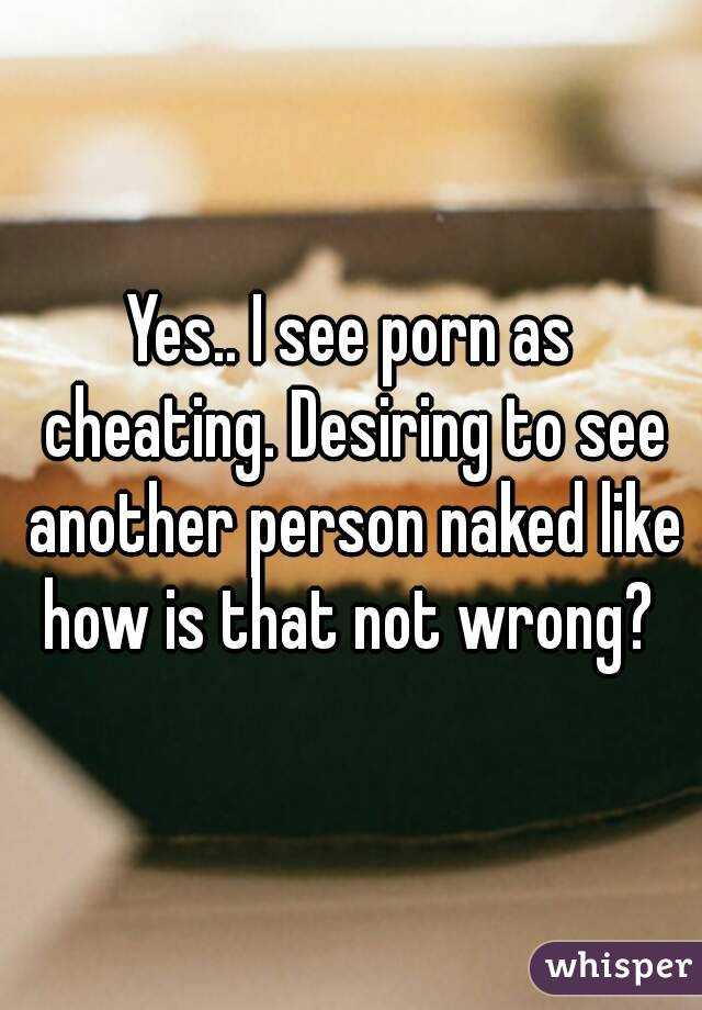 is porn cheating