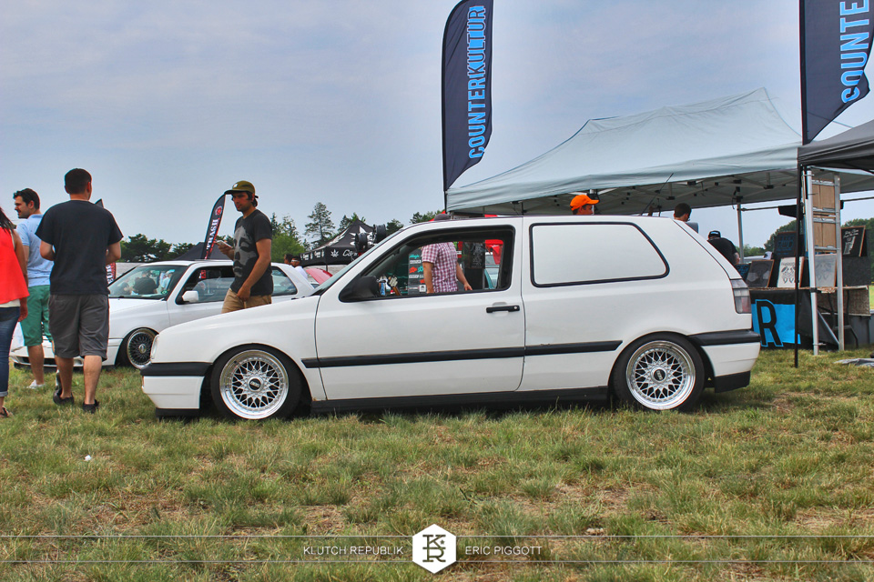 white mk3 vw on bbs rm wheels