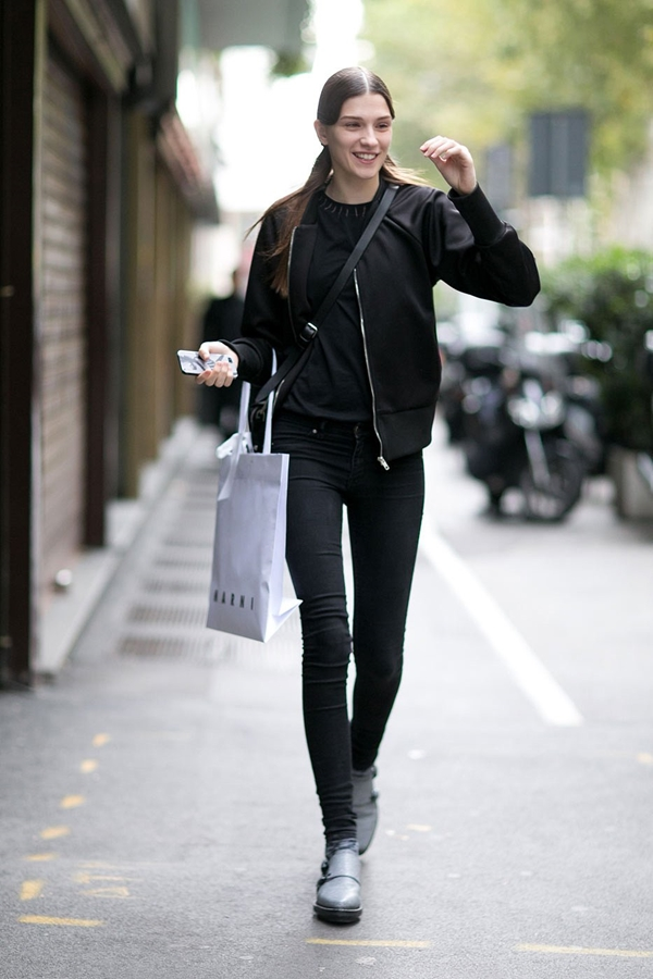 skinny jeans street style 2016-2017 pic 3