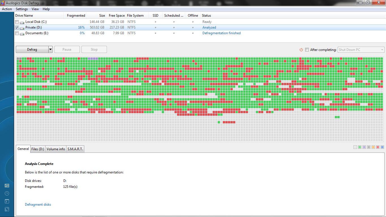 proses defrag menggunakan software auslogics