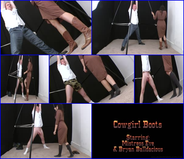 Riding Boots Licking And Hands Trampling
