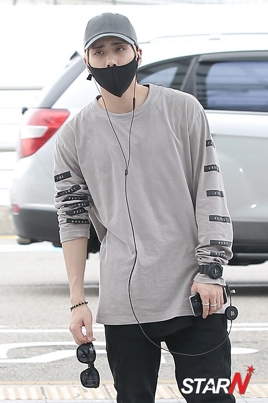 [IMG/160715] Jonghyun, Key @ Aeropuerto Incheon hacia Japón. EHAfIFam