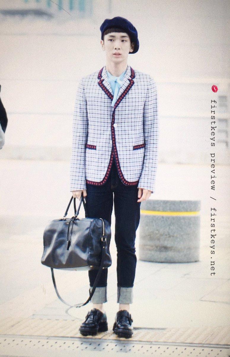 [IMG/160715] Jonghyun, Key @ Aeropuerto Incheon hacia Japón. 73rixFX5