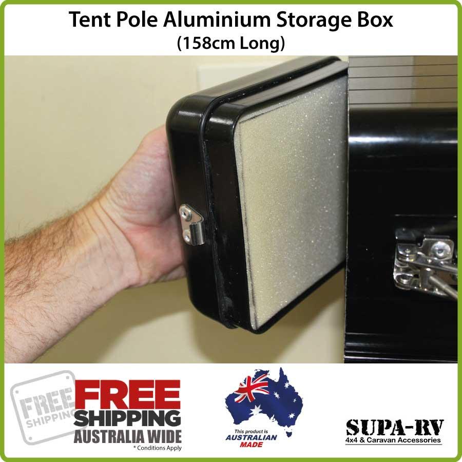 158cm Black Pole Carrier & Caravan Pole Carrier Box 158cm Tent Pole Storage also suits Camper ...