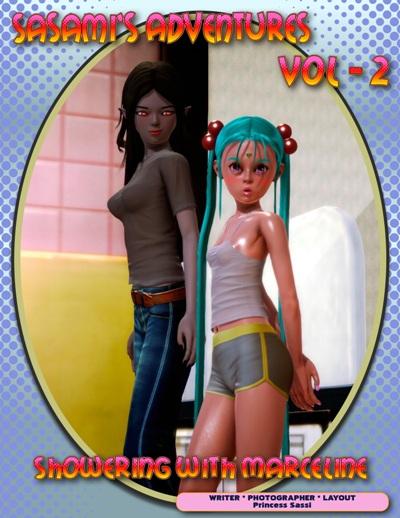 Sasami Adventures - Shower with Marceline