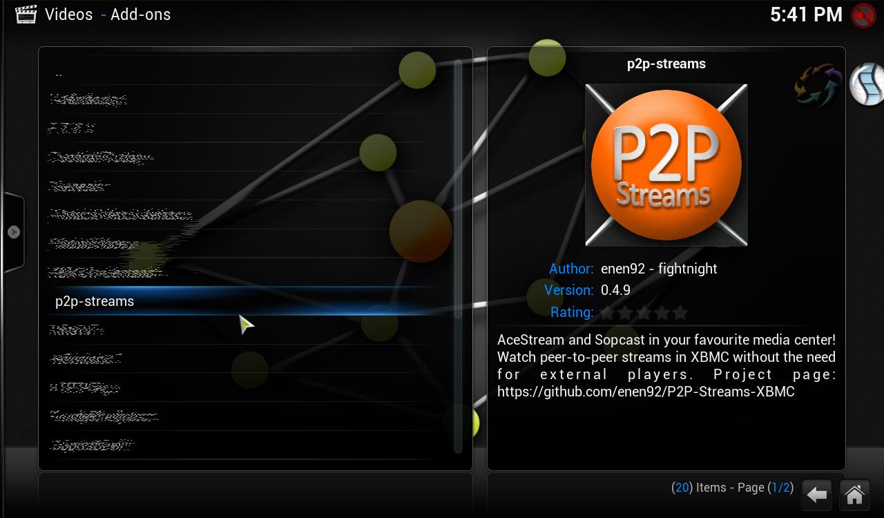GitHub - patrizia21/P2P-Streams-Kodi: AceStream and SopCast for Kodi