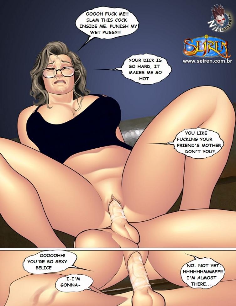 Порно комикс мама друга