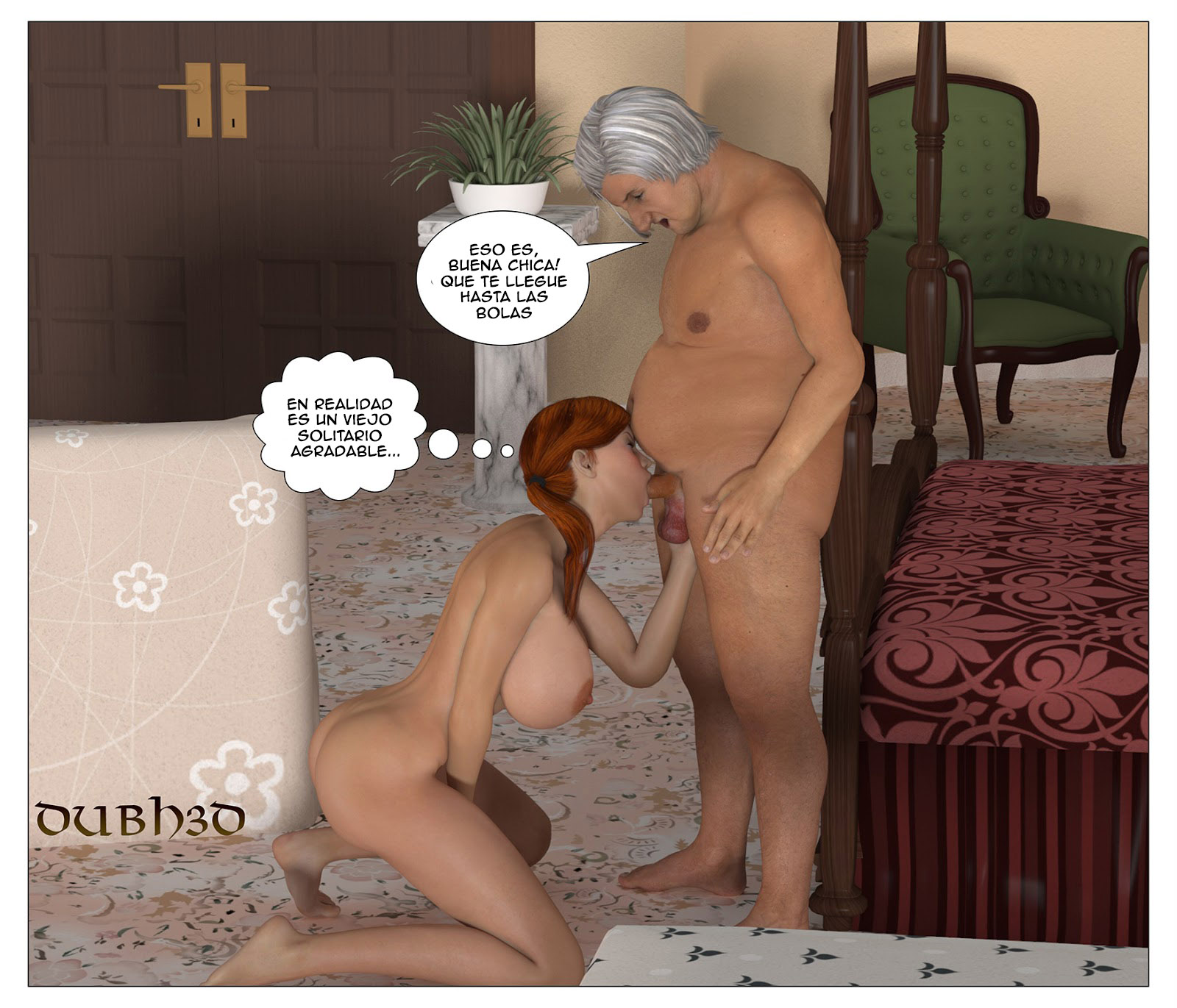 Old man porn toon really. happens