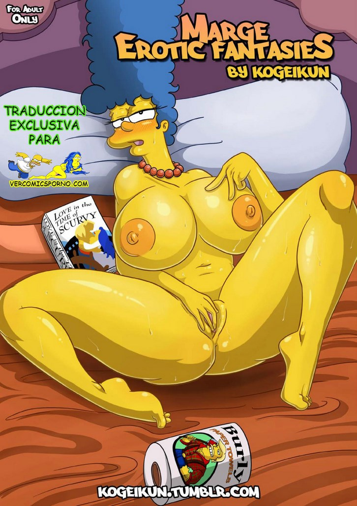 hentai over Marge bent simpson