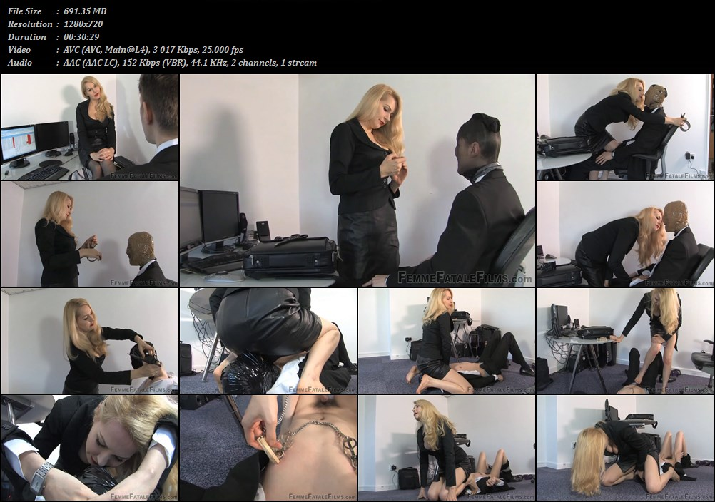 Sexy! asshole cleaning slave fucking