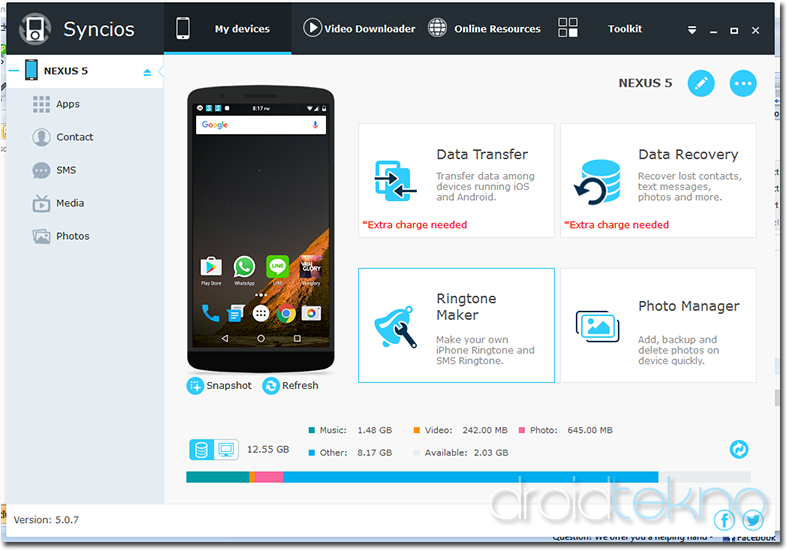Cara Mudah Backup APK via PC atau Android_syncios-home