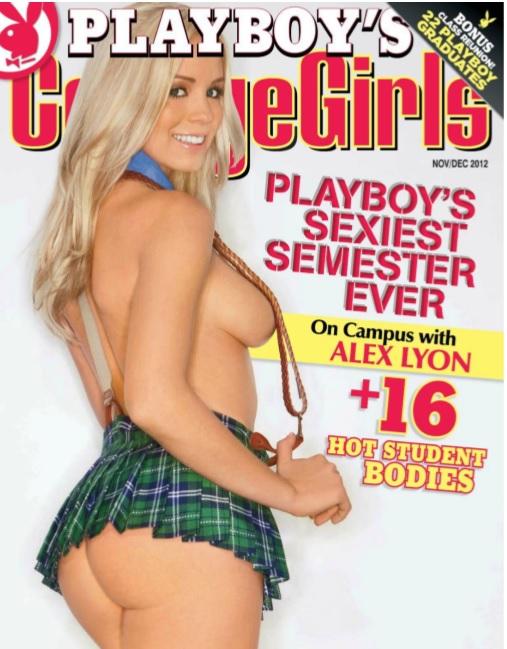 Playboys Collage Girls Noviembre - Diciembre 2012