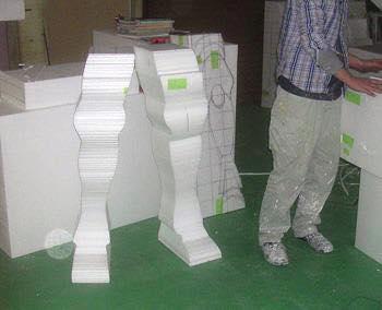 Processo de criação da Armadura de Gemeos para a exibição de Pachinko J0NW1lXS