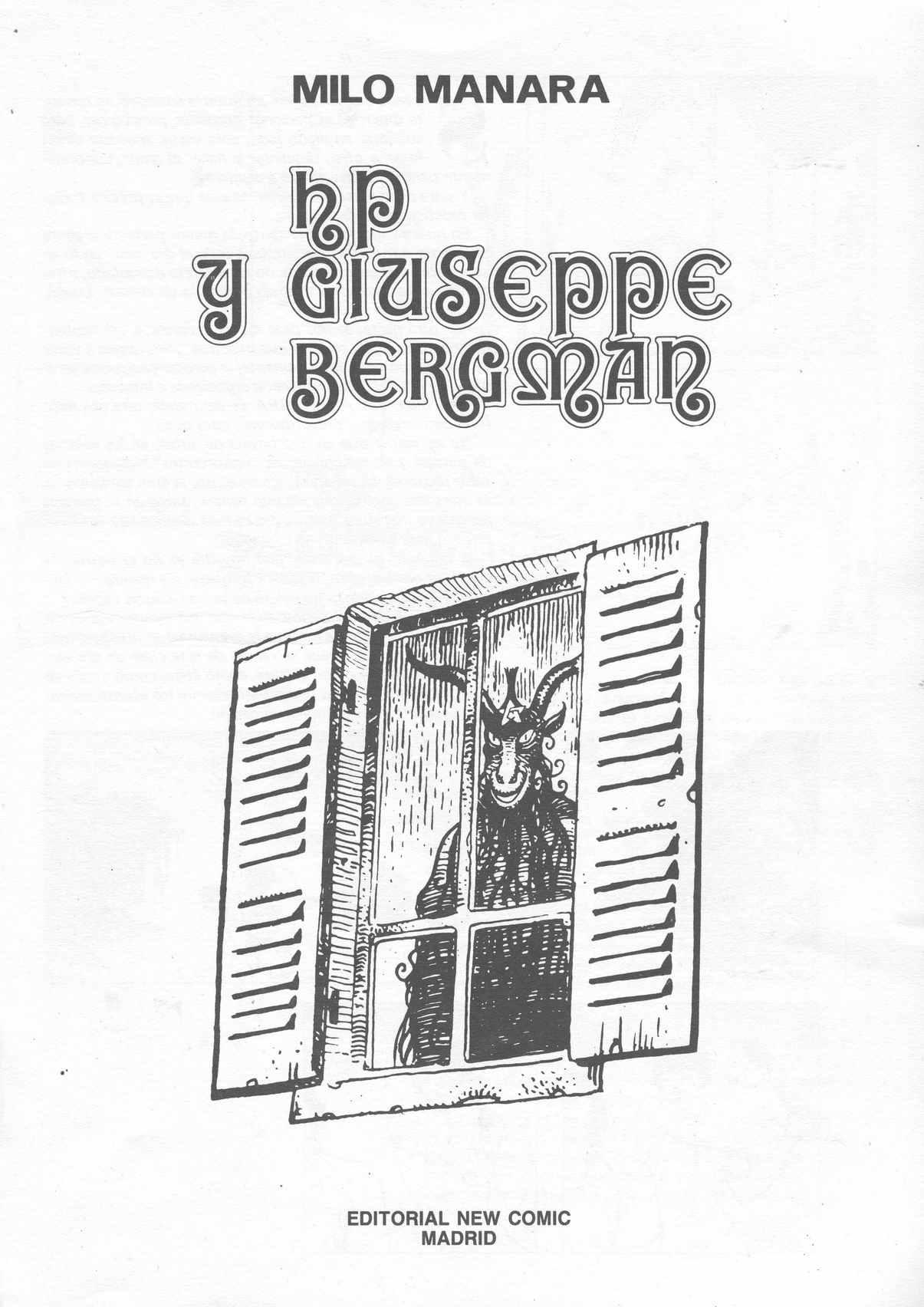 HP y Giuseppe Bergman