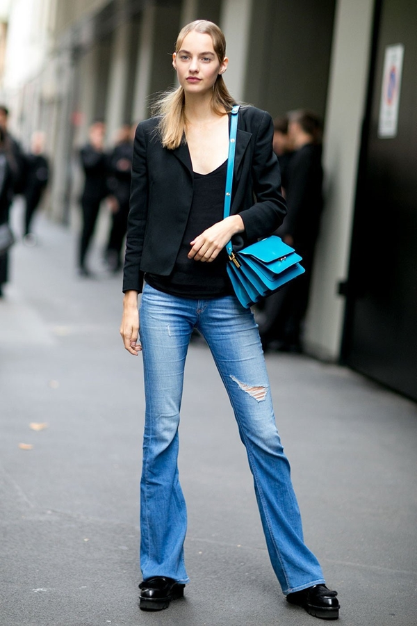 how to wear flared jeans, pic 2