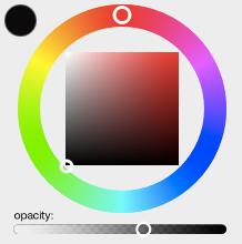 mockup of color wheel