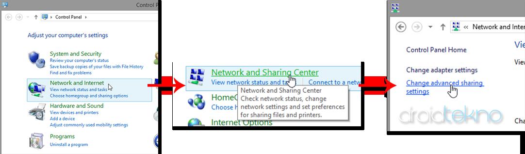 Transfer file dari pc ke android atau sebaliknya via wifi-control_panel