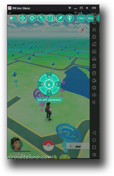 Main Pokemon GO di PC menggunakan Emulator !_GPS-movement