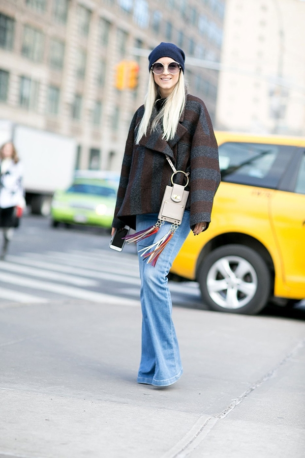 how to wear flared jeans, pic 8