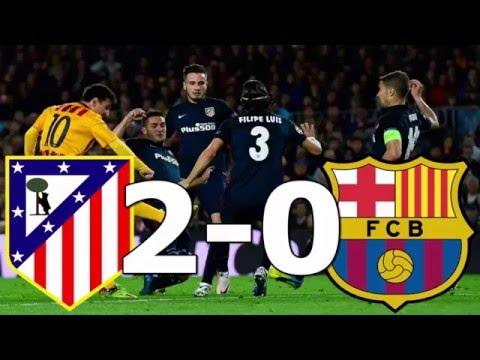 Atlético Madrid eliminó a Barcelona