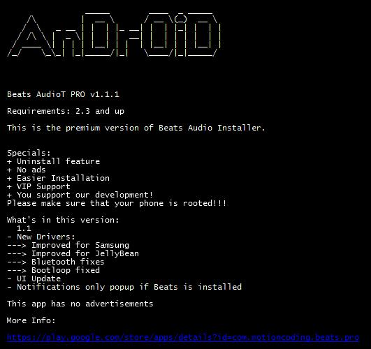 beats audio installer root apk download