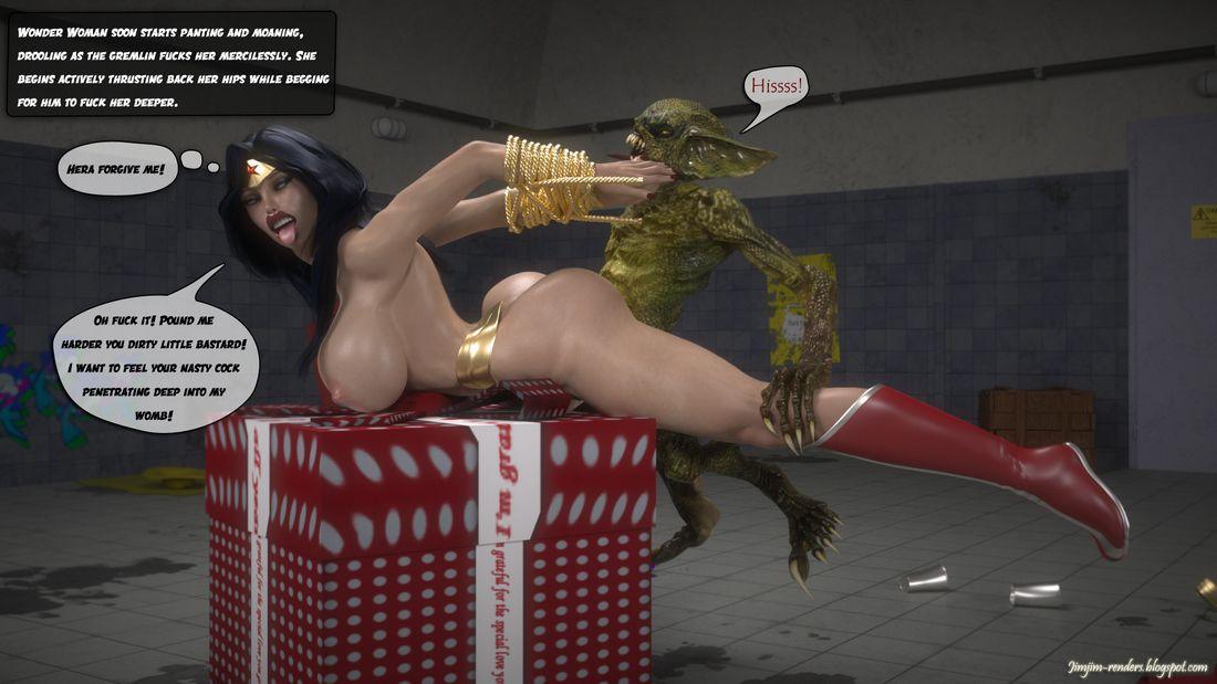 jimjim wonder woman vs gremlins