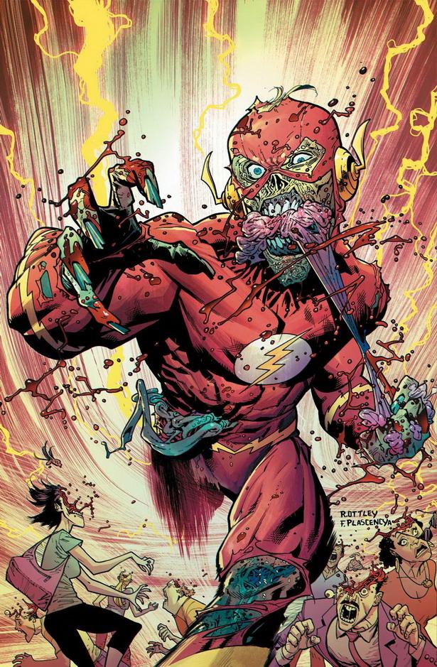 Barry Allen es el zombi mas rápido del mundo en The Flash nº35 por Ryan Ottley y Fco. Plascencia