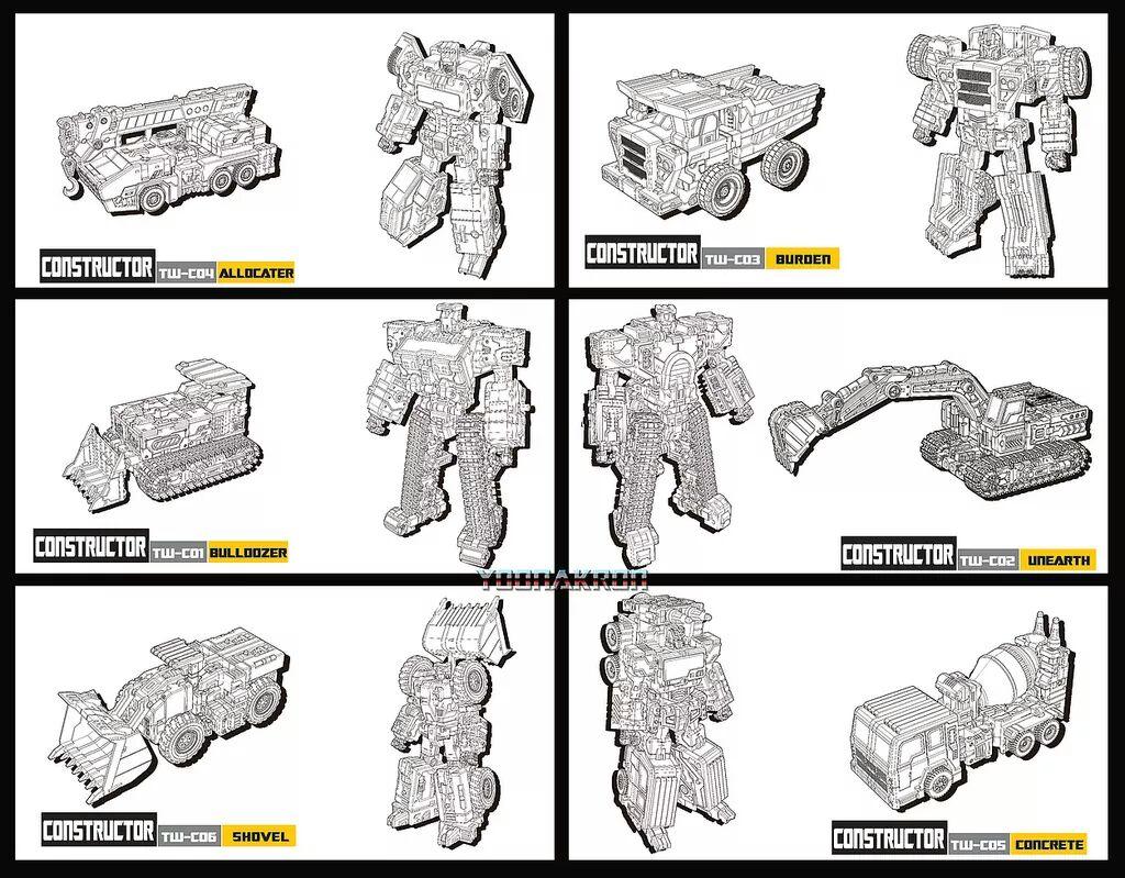 [Toyworld] Produit Tiers - Jouet TW-C Constructor aka Devastator/Dévastateur (Version vert G1 et jaune G2) TnnRhRfr
