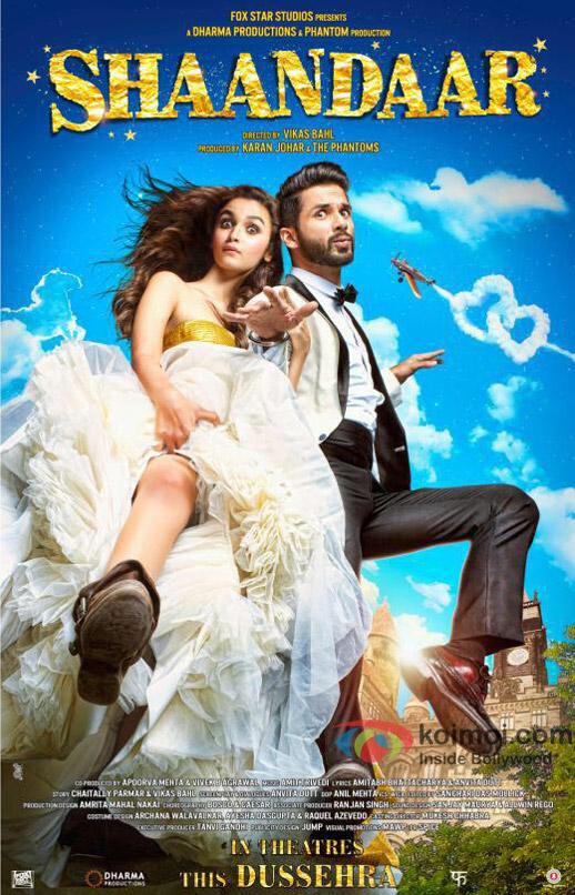 Shaandaar 2015 Hindi BluRay 720p x264 AAC – Hon3y 1.10 GB