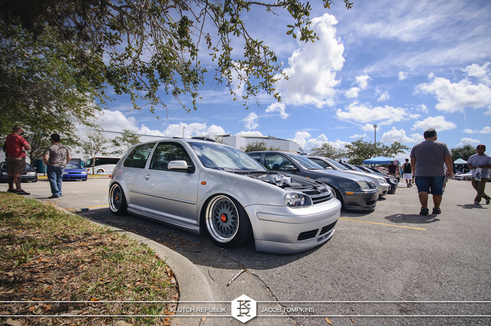 reflex silver vw gti air bagged