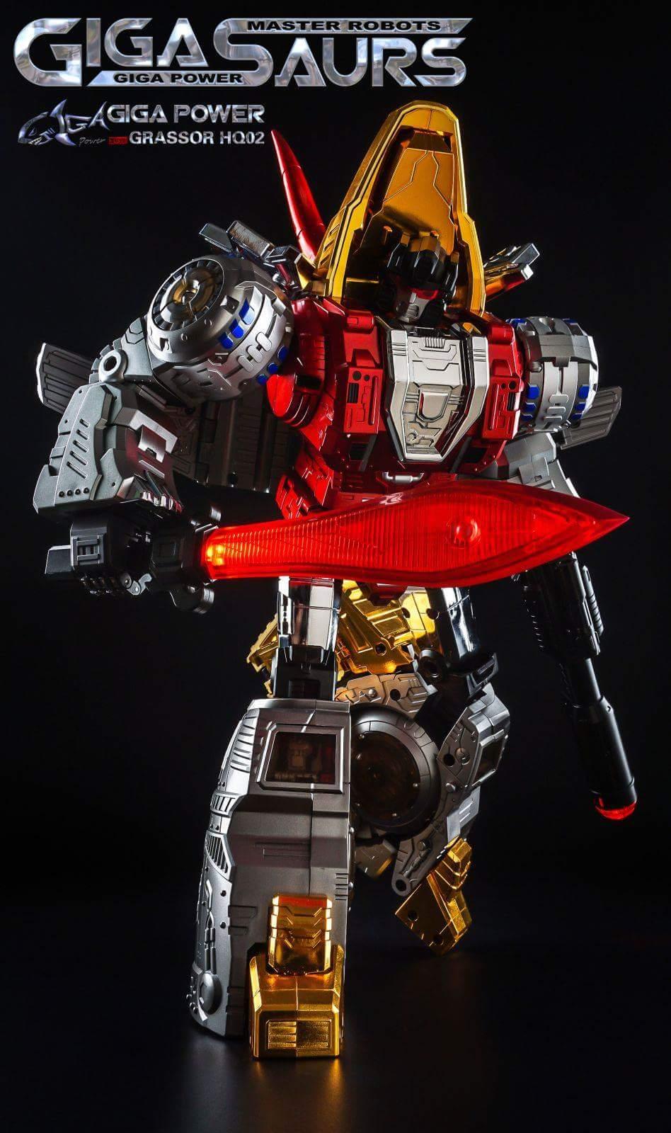 [GigaPower] Produit Tiers - Jouets HQ-01 Superator + HQ-02 Grassor + HQ-03 Guttur + HQ-04 Graviter + HQ-05 Gaudenter - aka Dinobots - Page 4 XeR0SVpL