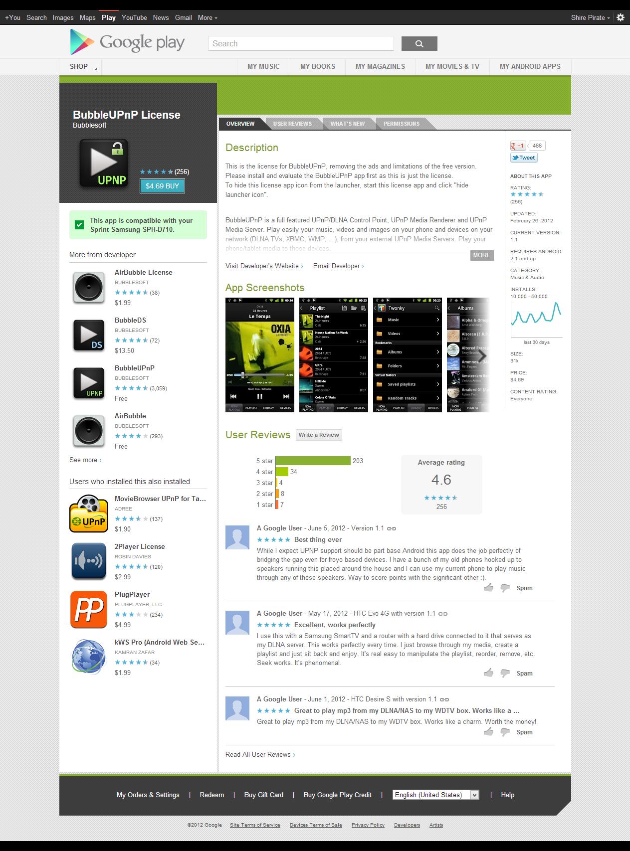 BubbleUPnP Pro v1.6.3 AnDrOiD (download torrent) - TPB