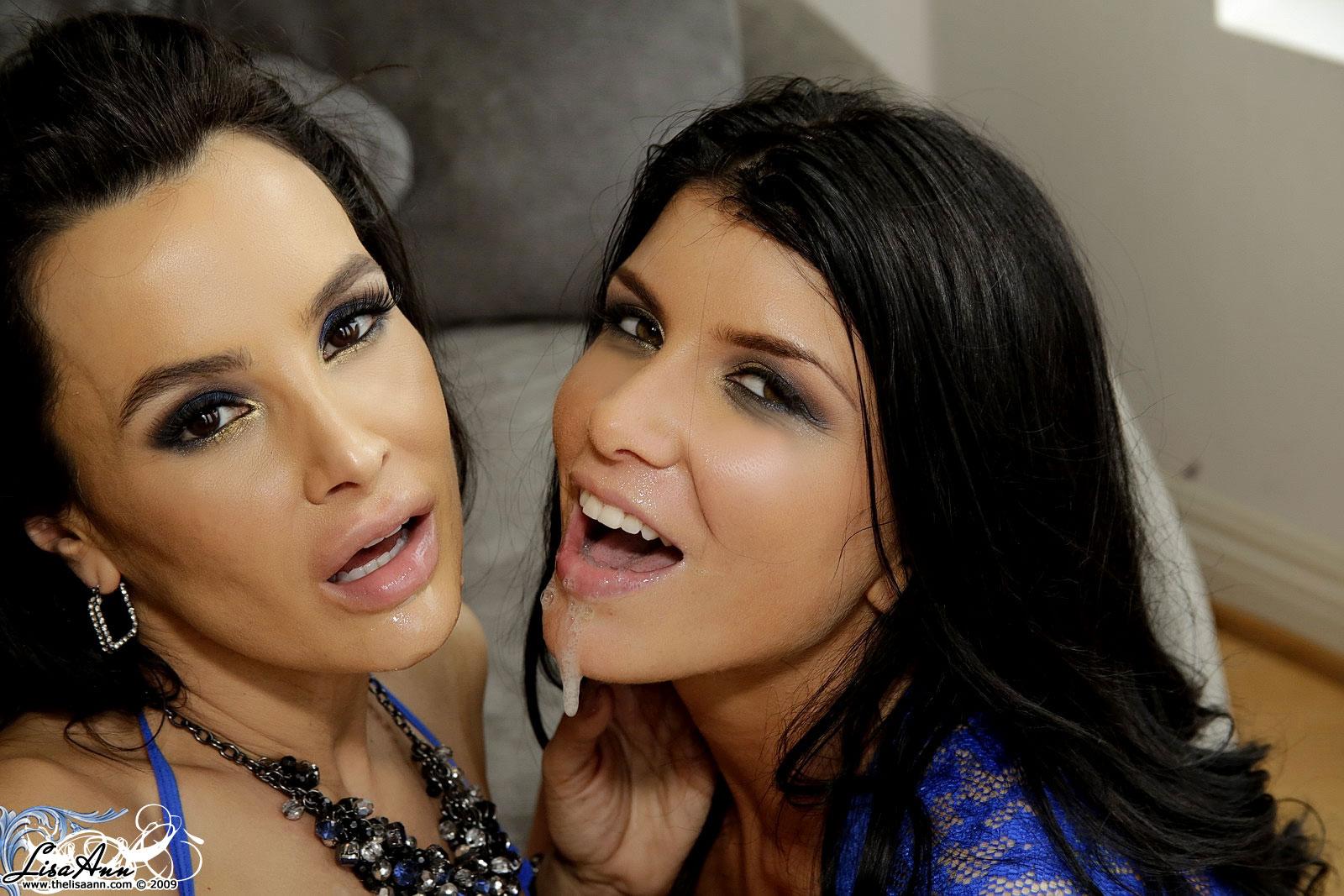 Romi Rain comparte una carga de lechita con Lisa Ann