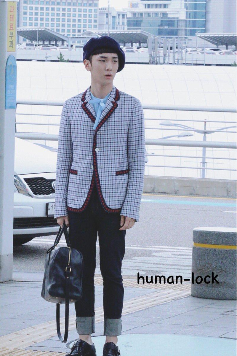[IMG/160715] Jonghyun, Key @ Aeropuerto Incheon hacia Japón. C9P8cZEd