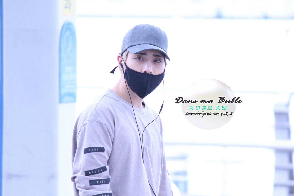 [IMG/160715] Jonghyun, Key @ Aeropuerto Incheon hacia Japón. XtYJ7njQ