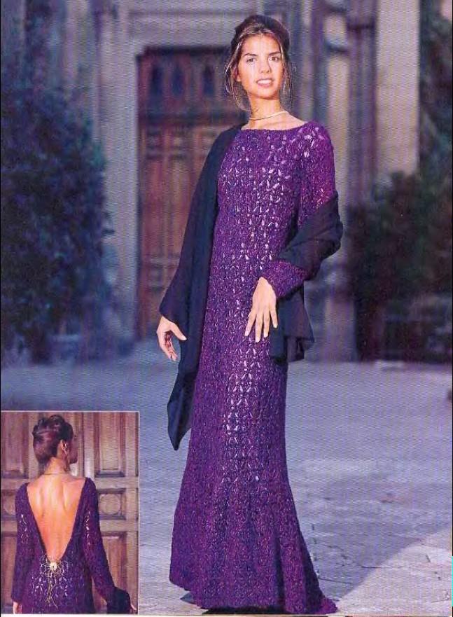 Вечерние вязаные платья