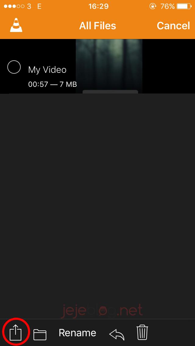 cara transfer video ke iphone