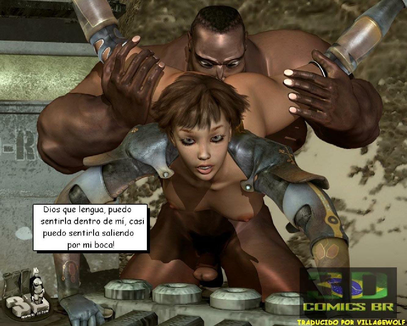 Chica negro forzado