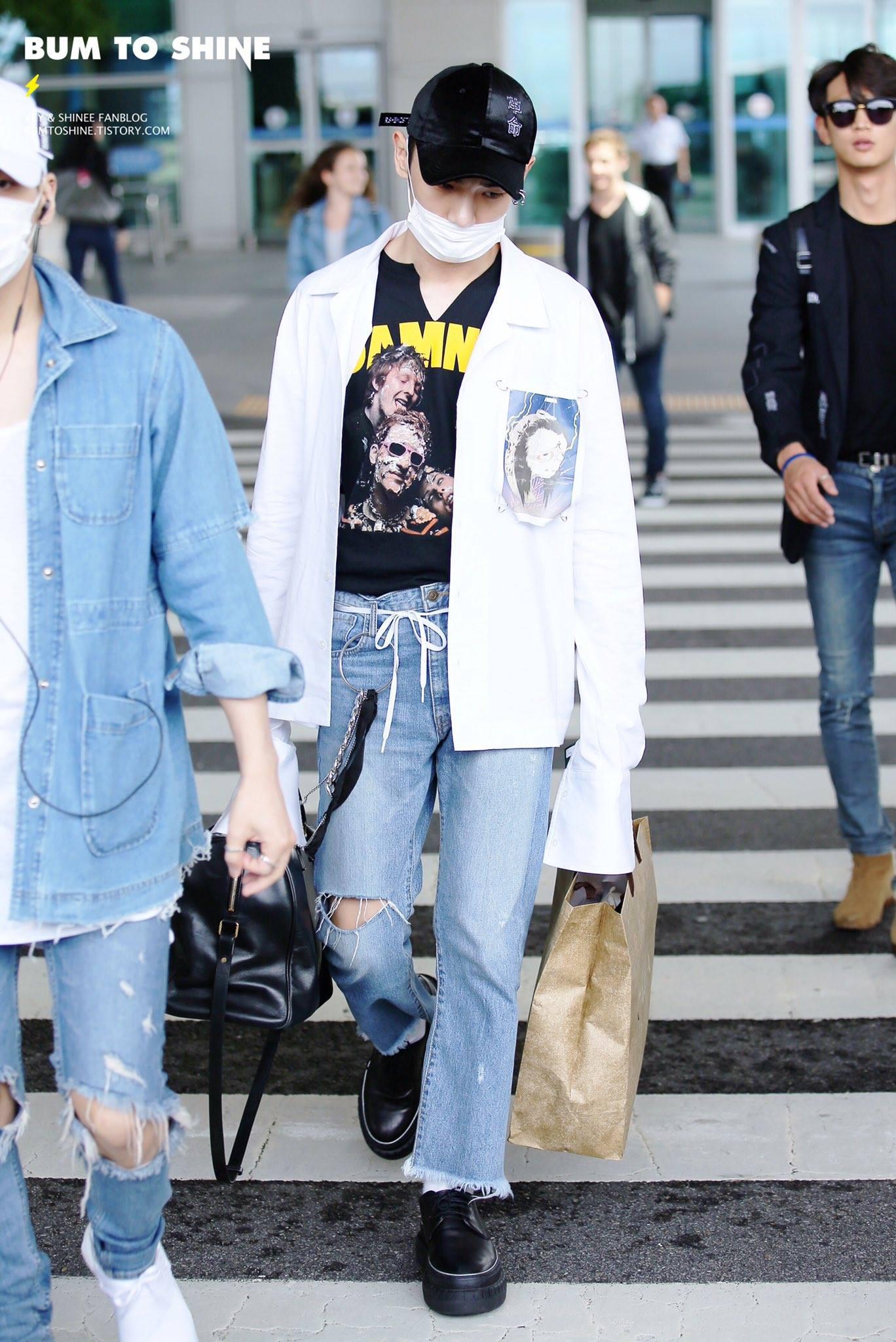 [IMG/160718] Onew, Jonghyun, Key, Minho @Aeropuerto de Kansai e Incheon (Jap-Cor) 76aqvHI7