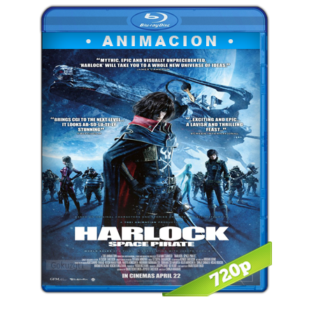 Captain Harlock (2013) BRRip 720p Audio Trial Latino-Castellano-Ingles 5.1