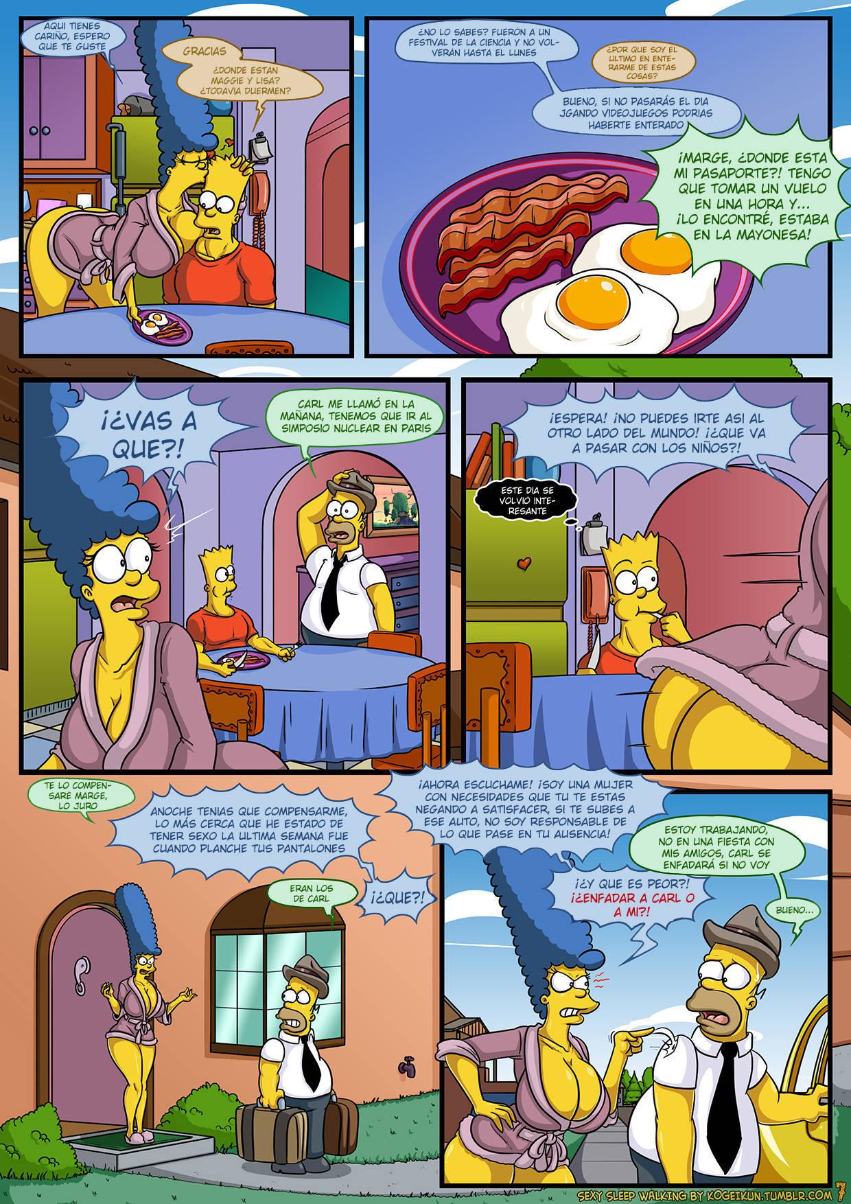 porno los simpsons comic