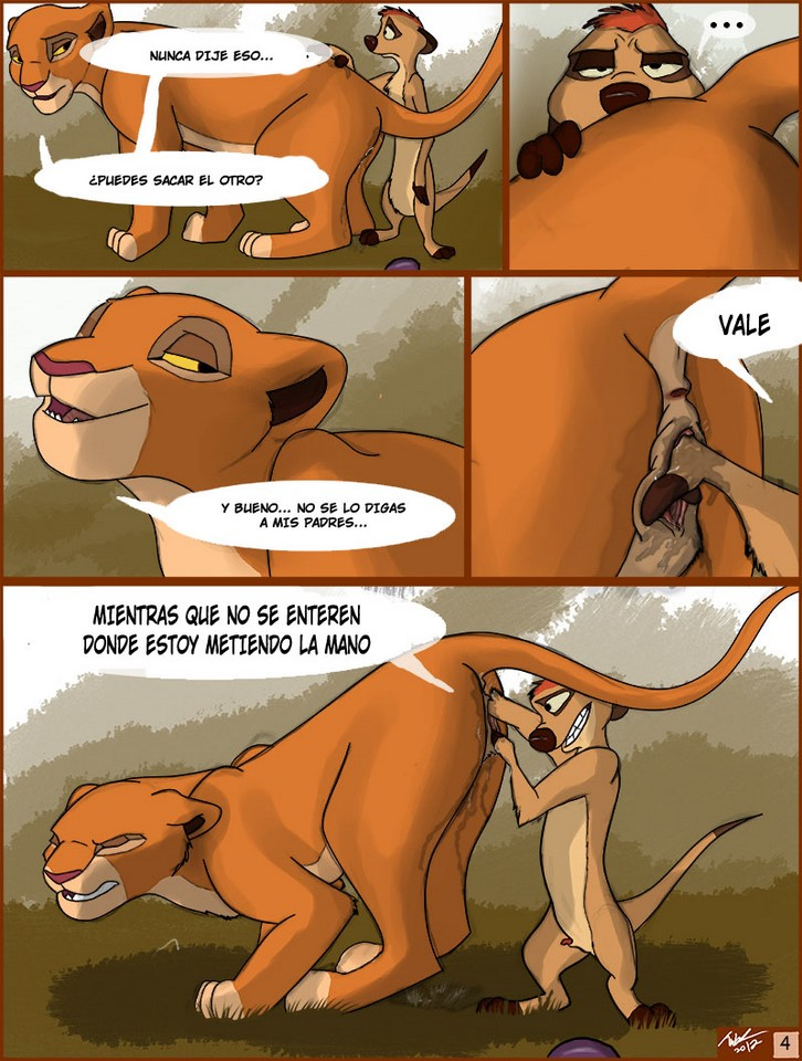 El Rey León XXX de Timón con Simba y Nala disney