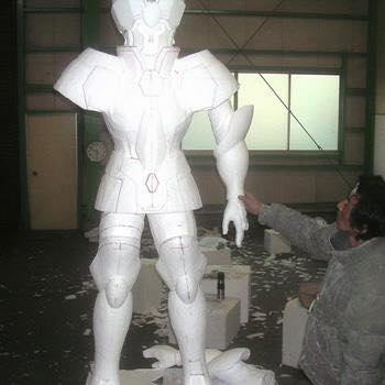 Processo de criação da Armadura de Gemeos para a exibição de Pachinko Qz7qT8CA