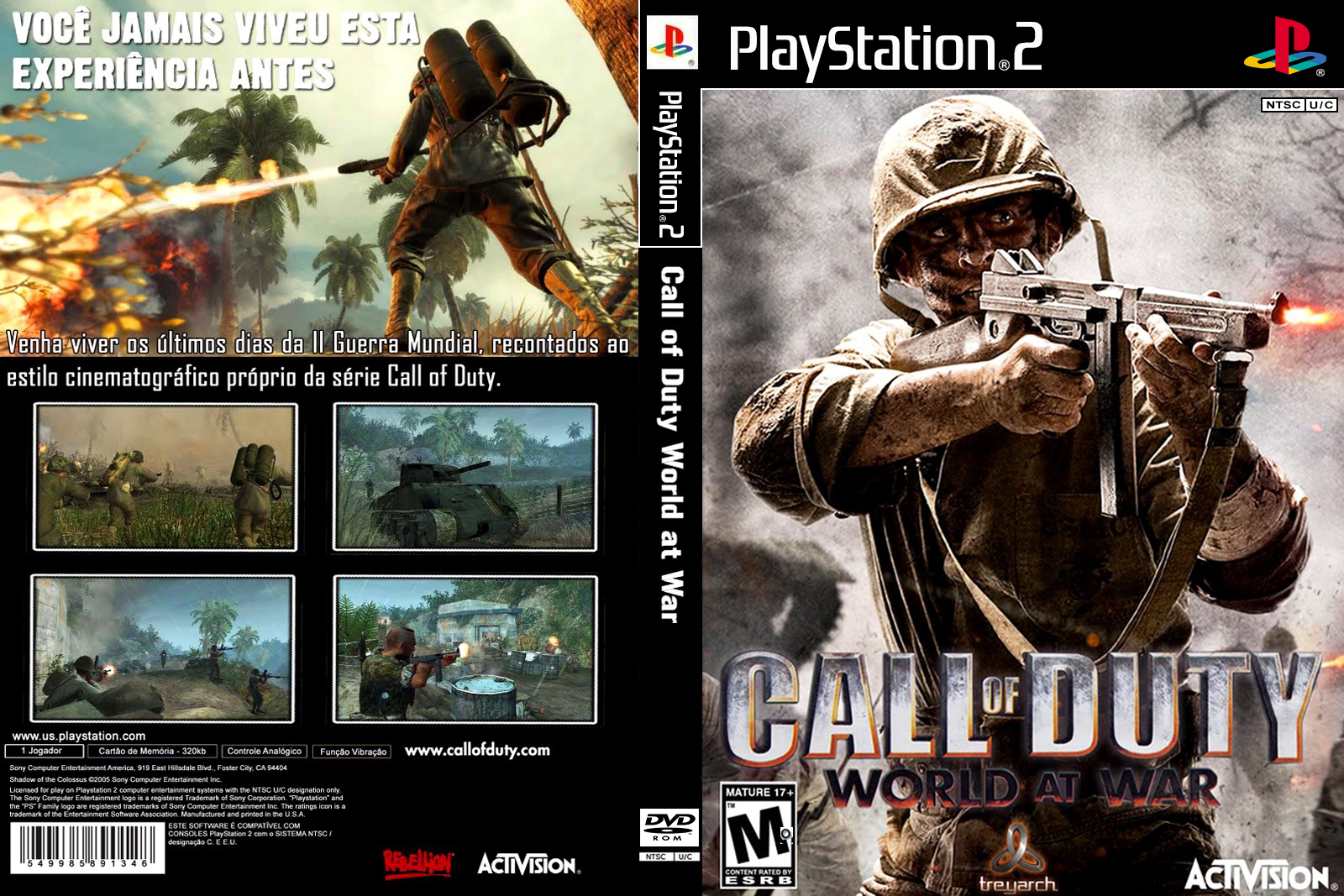 ps2 cover call of duty 4 world at war palntscuc