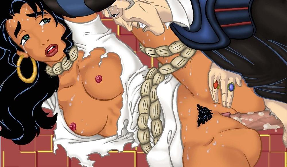 Esmeralda porno en el Jorobado Notre Dame