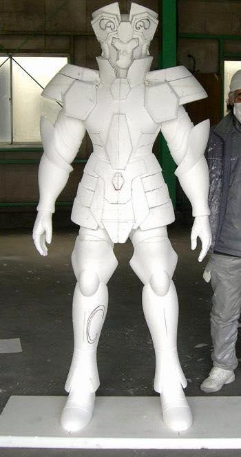 Processo de criação da Armadura de Gemeos para a exibição de Pachinko Hd1xpoke