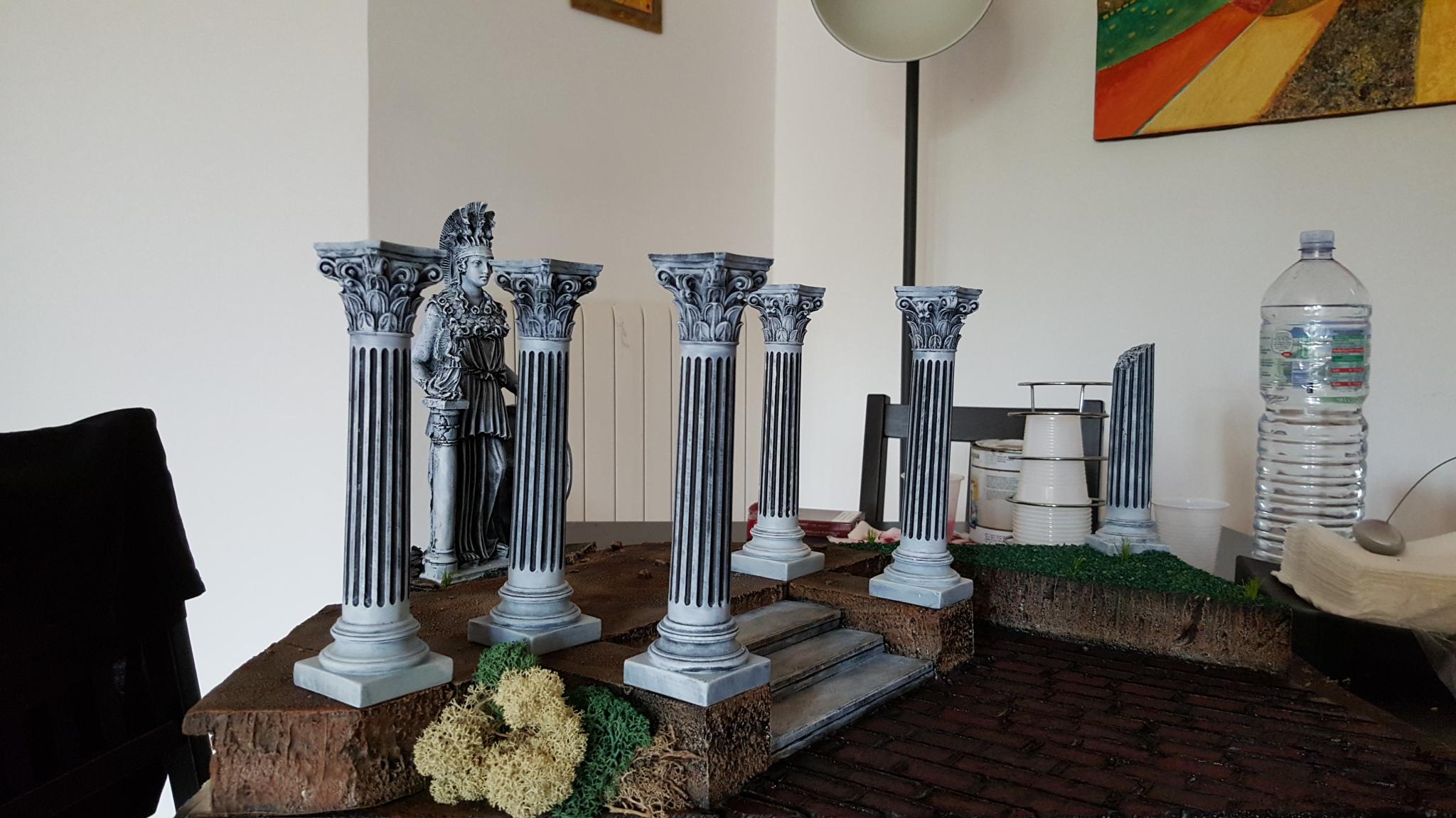 consiglio colorazione mattoni per diorama athena e cavalieri di bronzo